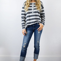 Studio Stripe Long Sleeve Top