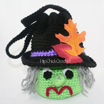 Willow Witch Purse Treat Bag -  Crochet Pattern -  Halloween - Instant Download