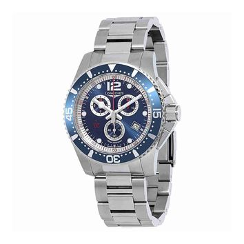 Longines HydroConquest Chronograph Blue Dial Mens Watch L38434966