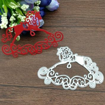 Baby Rocking Horse Toy lace Metal cutting dies Scrapbook card album paper craft home decoration embossing stencils cutter