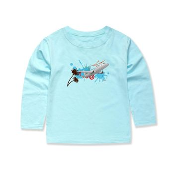 SMHONG new fashion boys airplane t shirts kids clothing boys clothes girls summer clothing sonic the hedgehog