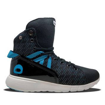 Black/Blue Mission Trainer Hightop Bodybuilding Sneaker