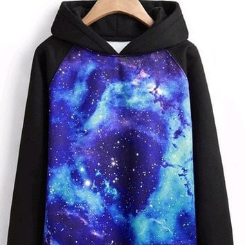 Unisex Long sleeves Galaxy printed Hoodies = 1920263044