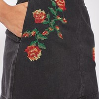 MOTO Tapestry A-line Skirt - Denim - Clothing