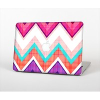 """The Vibrant Pink & Blue Chevron Pattern Skin Set for the Apple MacBook Air 13"""""""