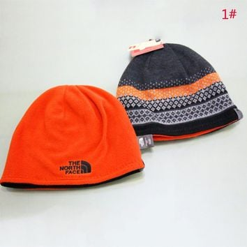 The North Face New fashion embroidery letter knit keep warm thick couple hat cap