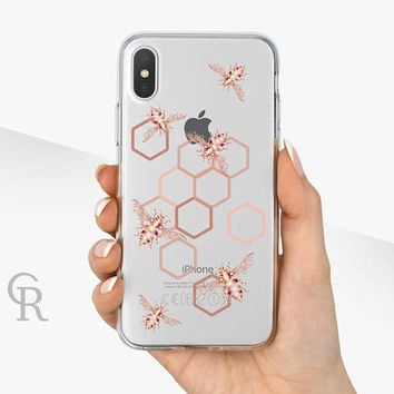 Bee Clear Phone Case Phone Case For iPhone 8 iPhone 8 Plus iPhone X Phone 7 Plus iPhone 6 iPhone 6S  iPhone SE Samsung S8 iPhone 5