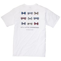 Go A Little Overboard Tee in White by Southern Proper