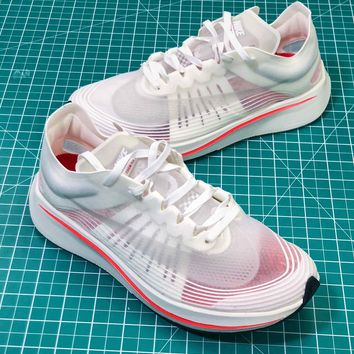 Nike Nike Lab Zoom Fly SP White Sport Running Shoes - Best Online Sale