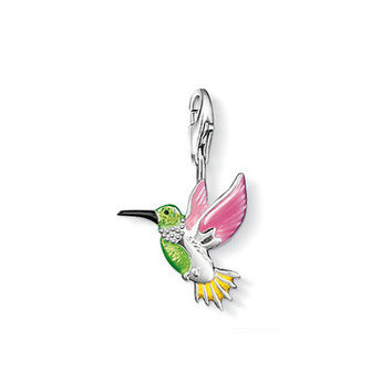 European style fashion Silver Plated Color small hummingbird pendant charms (1.8x1.5cm) fit charm bracelets for women TS-CH0016