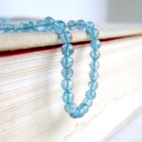 Apatite Gemstone Teal Smooth Round Rondelle 3.5mm Full Strand 92 beads