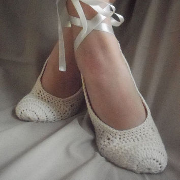 Dance shoes slippers cream Bridal Party Bridesmaid