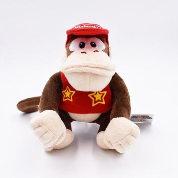 """Super Mario party nes switch Hot Sales Brand   1pcs  Bros Donkey Kong 12"""" (30CM) Plush Doll Diddy Kong Macacos Animais AT_80_8"""