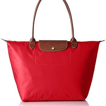 Longchamp Le Pliage Garance Red Nylon Large Foldable Tote Bag - Beauty Ticks