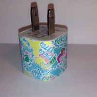 Lilly Pulitzer Inspired In The Beginning USB Iphone Wall Charger