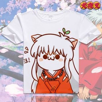 Inuyasha Short Sleeve Anime T-Shirt V10