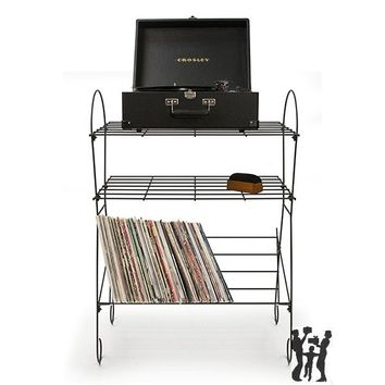 Crosley Wirecord Turntable Stand - Black ST2001A-BK