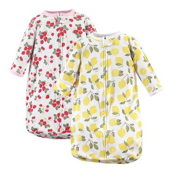 Strawberry & Lemon Long-Sleeve Sleeping Bag Set - Newborn