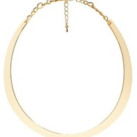 Gold Curved Crescent Choker Necklace by Charlotte Russe
