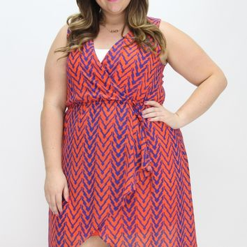 Tiger Print Chevron Dress | Auburn Game Day | Southern Flair Boutique