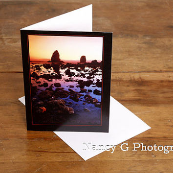 "Greeting Card, Stationary Card, Sea Star, Tidal Pool, 5""x7"" Card, Greeting Cards, Nature Card, by Nancy G Photography"