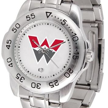 Western State Colorado University Mountaineers Sport Steel Watch