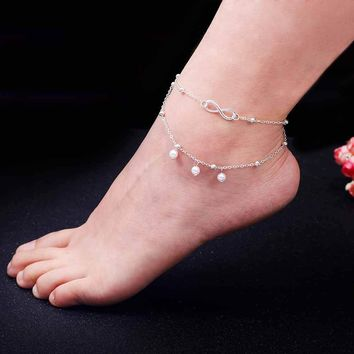 TOMTOSH 2017 New Hot 1PC Hot Summer Beach Ankle Infinite Foot Jewelry Anklets ankle bracelets for women