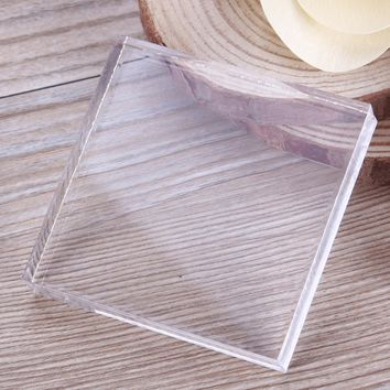 Square Shaped Acrylic Plate Clay Pottery Sculpture Working Bench Tool DIY Transparent Stamp Pressure Plate #232297
