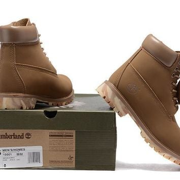 Men's Timberland Icon 6-inch Premium Classic Brown Nubuck Waterproof Fleece Liner Boot