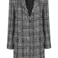 Lanvin - Prince of Wales check wool-blend tweed coat