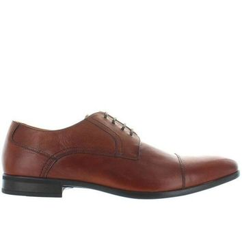 CREYONIG Florsheim Burbank - Brown Leather Lace-Up Shoe