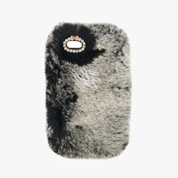 Gray Furry Phone Case