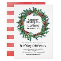 Elegant Winter Watercolor Wedding Card