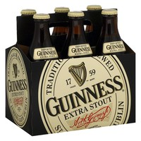 Guinness Extra Stout Beer Bottles 12 oz, 6 pk