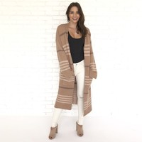 Chantelle Plaid Trench Cardigan