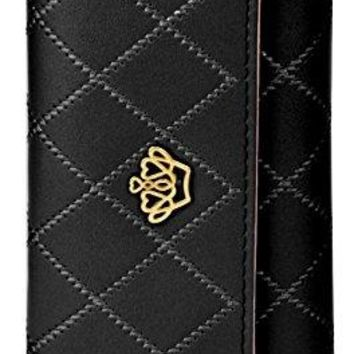 Pathto Crown Womens Leather Clutch Wallet Long Trifold Organizer Wallet Credit Card