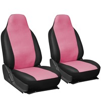 Oxgord 2pc Integrated Leatherette Bucket Seat Covers, Universal Fit for Car/Truck/Van/SUV, Purple & Black