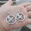 mockingjay pin earring,Hunger Games earrings,catching fire earrings,Antique Silver earrings,fashion jewelry,Christmas greeting to gifts,cool