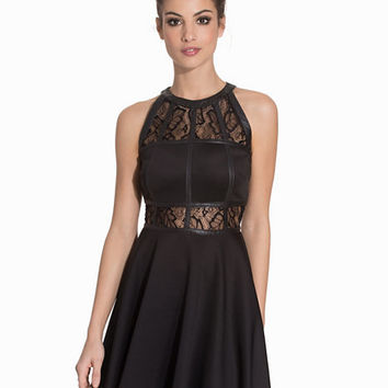 Lace Insert Skater Dress, Ax Paris