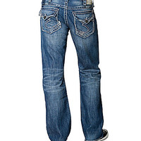 Silver Jeans Co. Zac Flap-Pocket Relaxed Straight-Leg Jeans - Indigo