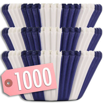 Blue Circus Stripe Baking Cups 1000