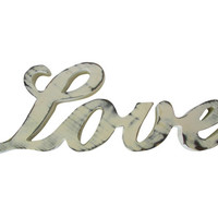 Love Sign in Cream Wood Sign Wall Decor Rustic Americana Cottage Rustic Chic Shabby Chic Decor Wall Art