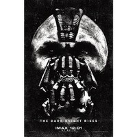 (11x17) The Dark Knight Rises - Bane Face B&W Movie Poster