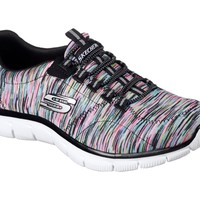 Skechers Empire Game On Black/Multi Memory Foam Shoes