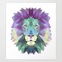 Colorful Lion Art Print by Smyrna