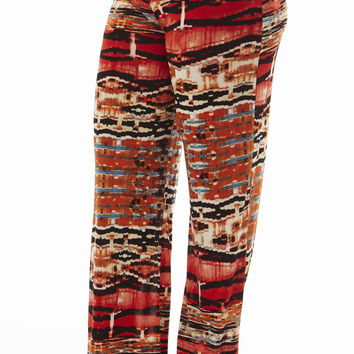 High Waisted Red Egyptain Plus Size Palazzo Pants