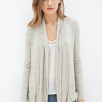 LOVE 21 Draped Marled Knit Cardigan