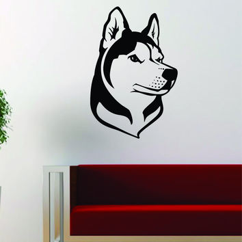 Husky Dog Decal Sticker Wall Vinyl Art Home Room Decor Decoration Animal Pet Teen