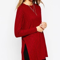 ASOS Tunic With Side Split With Long Sleeve