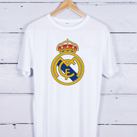 real madrid logo Tshirt T-shirt Tees Tee Men Women Unisex Adults